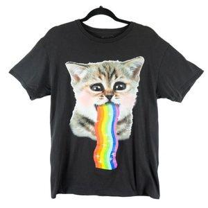 ✨3/$25✨Spencers Rainbow Barf Kitten - M